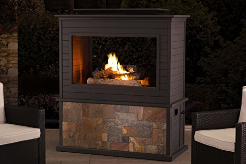 Sunjoy 110505001 Gas Fire Place, Large