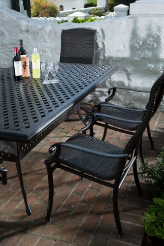 Alfresco Home Hemingway All Weather Wicker 8-Seat Dining Set