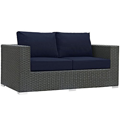 Sojourn 9 Piece Outdoor Patio Sunbrella Sectional Set
