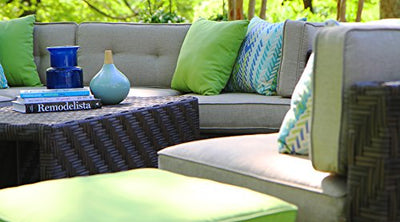 AE Outdoor SEC101110 7 Piece Canyon Sectional with Sunbrella Fabric