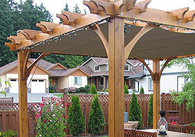 Outdoor Living Today Breeze Pergola Size: 8x10 with Retractable Canopy