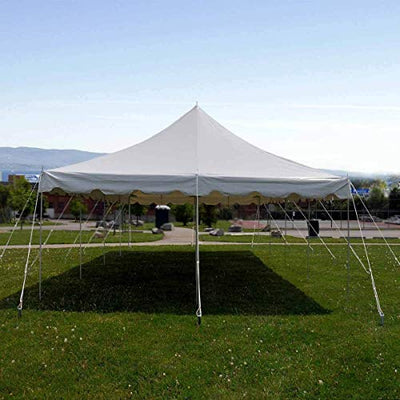 9TRADING 20x40' Commercial Pole Tent Party Wedding Canopy with Sidewalls Solid & Window