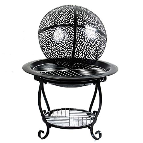YX Xuan Yuan BBQ Grill - Iron Barbecue Charcoal Grill Stove Home Indoor Outdoor smokeless Portable Winter Heater Grill Charcoal Grills (Size : B)