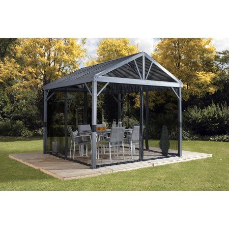Sojag SANIBEL I - Sunshelter 8'x8' with galvanized steel roof, nylon net