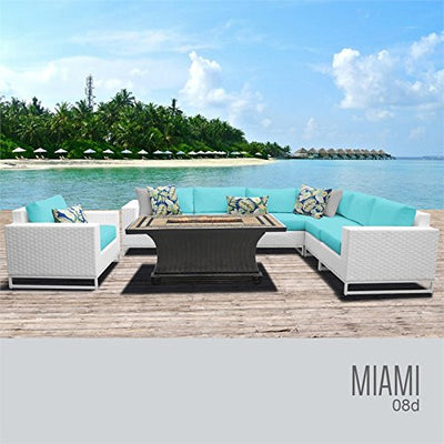 TK Classics MIAMI-08d-ARUBA Miami Seating Patio Furniture, Aruba