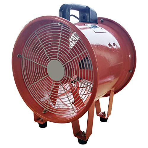 Portable axial flow fan, thickened casing 7 pieces of aluminum leaf convenient wear-resistant high-speed strong wind copper motor energy-saving axial flow fan, underground pipeline, communication,