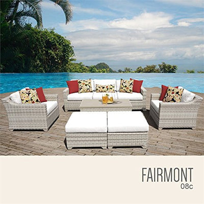 TK Classics FAIRMONT-08c-WHITE Fairmont Seating Outdoor Furniture, Sail White