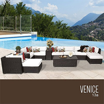 TK Classics VENICE-13a-WHITE Venice Seating Outdoor Furniture, Sail White