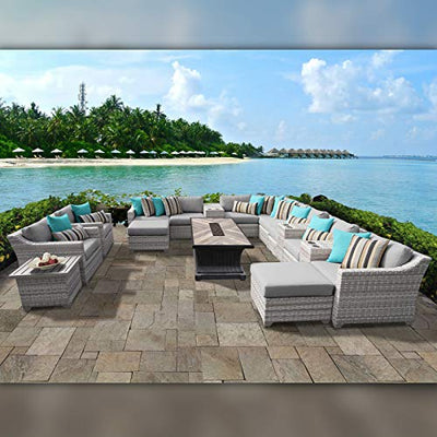 TK Classics FAIRMONT-17d-GREY Fairmont Seating Patio Furniture, Grey