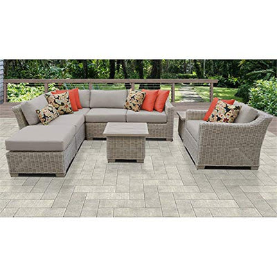 TK Classics COAST-08g-BEIGE Coast Seating Patio Furniture, Beige
