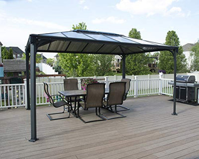 Palram 3600 Martinique Gazebo, Bronze, Gray