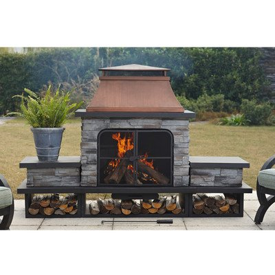 Connan Steel Wood Outdoor Fireplace