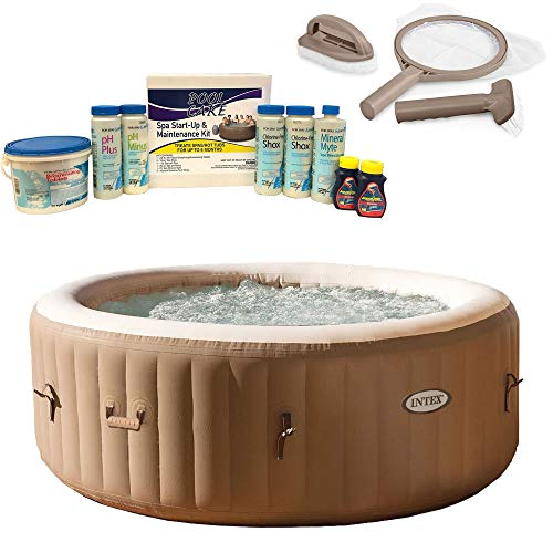 Intex PureSpa 4-Person Inflatable Hot Tub, Spa Maintenance Kit, Chemical Kit