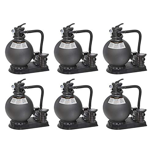 "Hayward Above Ground Swimming Pool 21"" 1.5 HP Sand Filter System (6 Pack)"