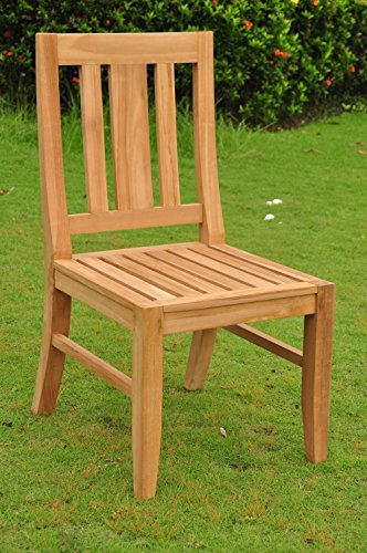 "9 PC A Grade Outdoor Patio Teak Dining Set - 117"" Double Extension Rectangle Table & 8 Osawa Chairs (6 Armless, 2 Arm)"