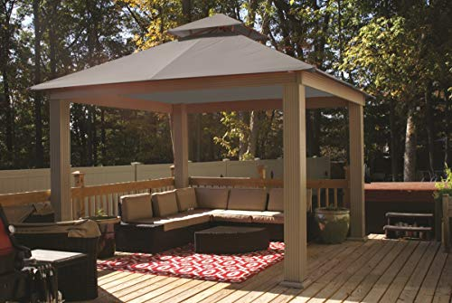 Acacia 12ft x 12ft Gazebo Cadet Grey OutDura Canopy