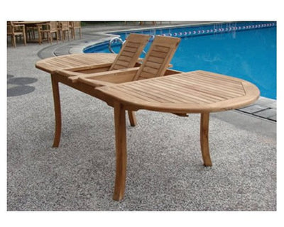 "New 13 Pc Luxurious Grade-A Teak Dining Set - 117"" Oval Table And 12 Cahyo Stacking Arm Chairs #WHDSCHd"