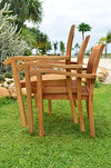 "11 PC A Grade Outdoor Patio Teak Dining Set - 118"" Double Extension Atnas Table & 10 Naples Stacking Arm Chairs"