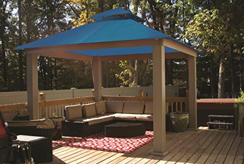 ACACIA 12ft x 12ft Gazebo Pacific Blue OutDura Canopy