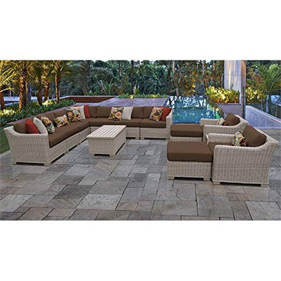 TK Classics COAST-13a-COCOA Coast Seating Patio Furniture, Cocoa