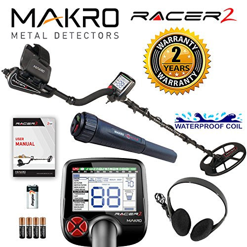 Makro Racer 2 Metal Detector Standard Package with Makro Pointer Pinpointer