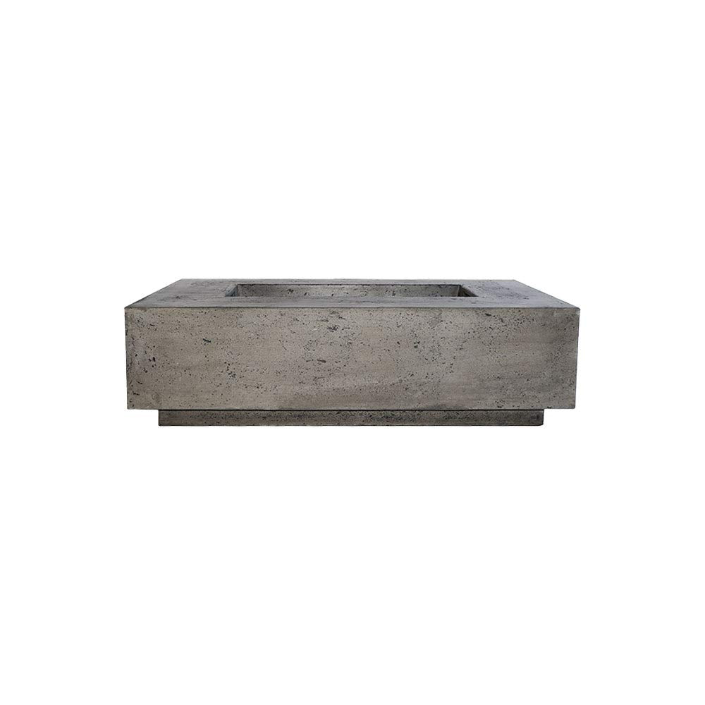Prism Hardscapes Tavola 1 Electronic Ignition Concrete Gas Fire Pit (PH-405-5LP-WBECS), Propane, Ultra White, 56x38-Inch