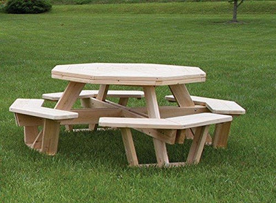 White Cedar Octagon/ Walk- In Picnic Table