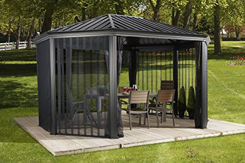 SOJAG KOMODO - 12' x 15' with galvanized steel roof with textilene walls & 2 doors mesh net
