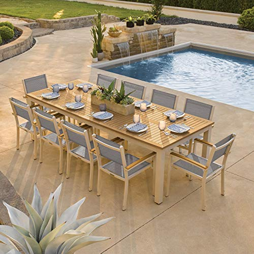 Oxford Garden 5879 Travira Furniture Set, Powder Coat Flint