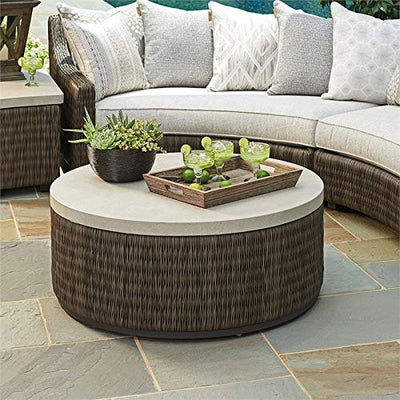 "Tommy Bahama Cypress Point Ocean Terrace 42"" Round Patio Coffee Table"
