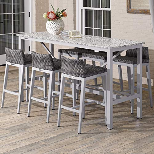 Oxford Garden 5949 Travira & Argento Furniture Set, Powder Coat Flint
