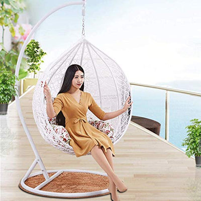 DITI Bird's Nest Basket Hanging Chair Swing Rattan Wicker Chair Indoor and Outdoor Cradle Chair Balcony Garden Gift