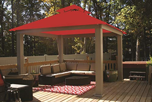 ACACIA 12ft x 12ft Gazebo Cardinal Red OutDura Canopy