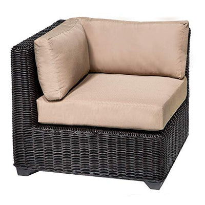 HomeRoots 7 Piece Outdoor Wicker Patio Furniture Set 07f - Wheat