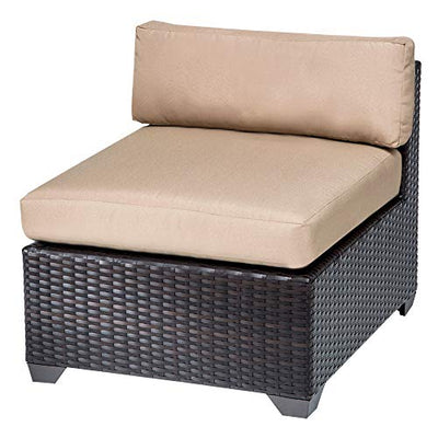 TK Classics Belle 9 Piece Outdoor Wicker Patio Furniture Set, Navy