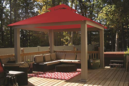 ACACIA 12ft x 12ft Gazebo China Red OutDura Canopy