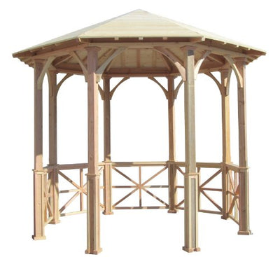 SamsGazebos 10' Octagon English Cottage Garden Gazebo, Adjustable for an Uneven Patio, Made in USA