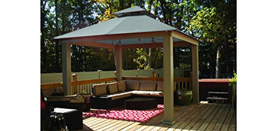 Acacia 14ft x 14ft Gazebo Cadet Grey OutDura Canopy
