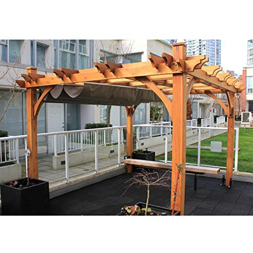 10'x12' Breeze Pergola with Retractable Canopy