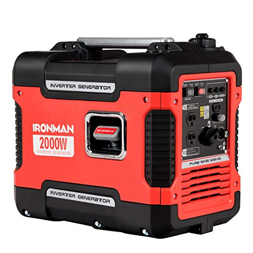 "lunanice Indoor Outdoor HOME OFFICE 19""L x 11""W x 15.5""H 2000W Portable Inverter Gasoline Generator Ultra Quiet 4 Stroke Single Cylinder Noise level 59db Full load run time 4h Maximum run time 10.5h"