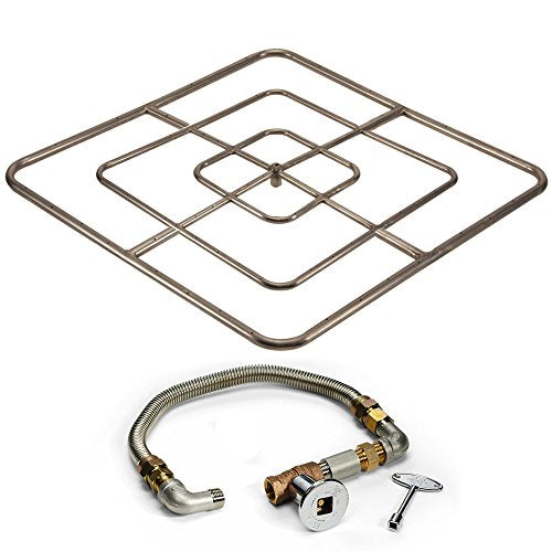 Hearth Products Controls Match Light Fire Pit Kit (FPSSQ48HCLP KIT), 48-Inch High Capacity, Propane