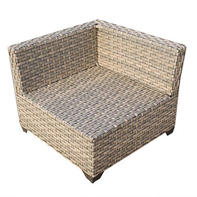 TK Classics Monterey 7 Piece Outdoor Wicker Patio Furniture Set 07a, Beige