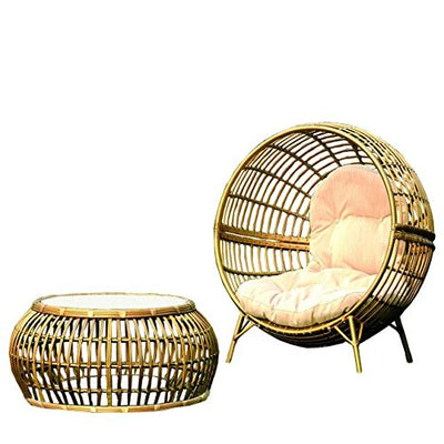 Imatation bamboo - rattan wicker chaise lounge chair / longuer / recliner / reclining chair / seat
