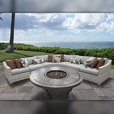 TK Classics FAIRMONT-06n-GREY Fairmont Seating Patio Furniture, Grey