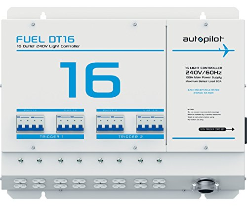 AutoPilot Fuel DT16 Light Controller, 16 Outlet, 240V with Dual Triggers