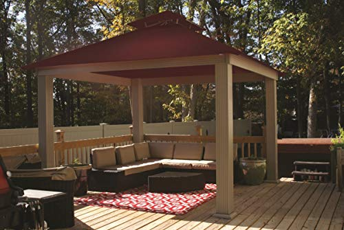 ACACIA 12ft x 12ft Gazebo Burgundy OutDura Canopy