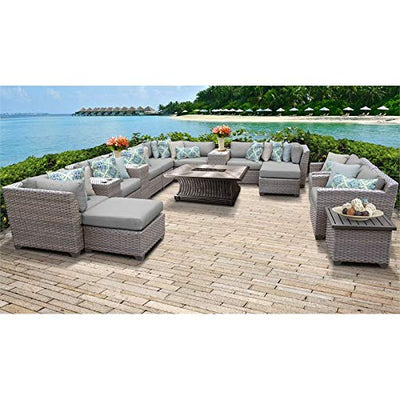 TK Classics FLORENCE-17d Florence Seating Outdoor Furniture, Grey