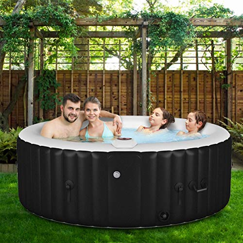 Spa, Portable Inflatable Bubble Massage Spa, Black