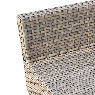 TK Classics Monterey 12 Piece Outdoor Wicker Patio Furniture Set, Tangerine