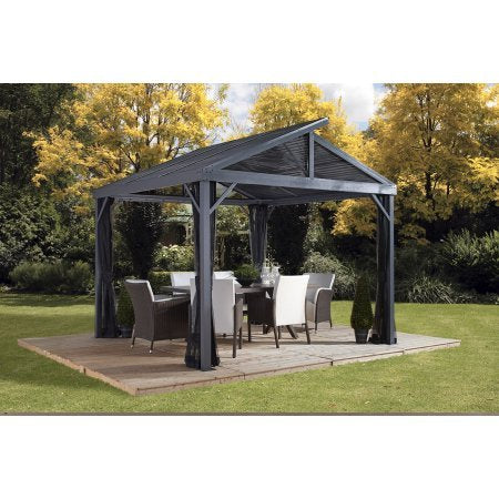 Sojag SANIBEL II - Sunshelter 8'x8' with galvanized steel roof, nylon net